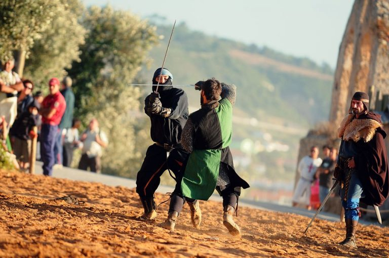 Photo: performance of knightly fights