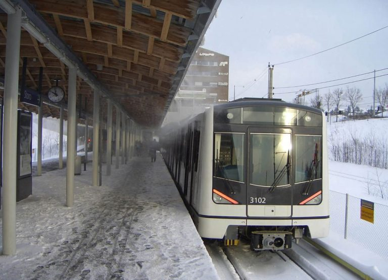 Modern metro train in Oslo