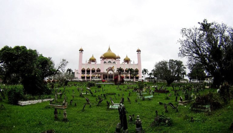 Kuching Mosque in the city center