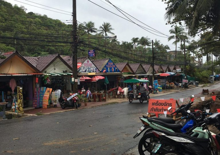 Shops along the highway