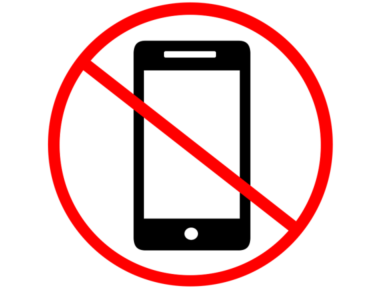 It is forbidden to use phones