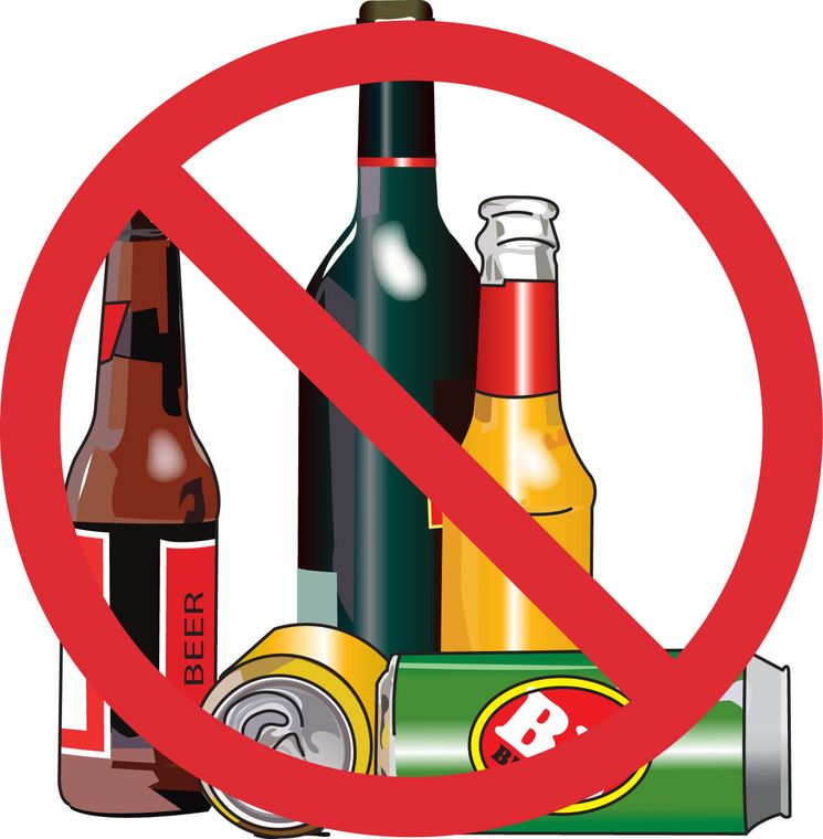 Do not drink alcohol on the streets or in public places.