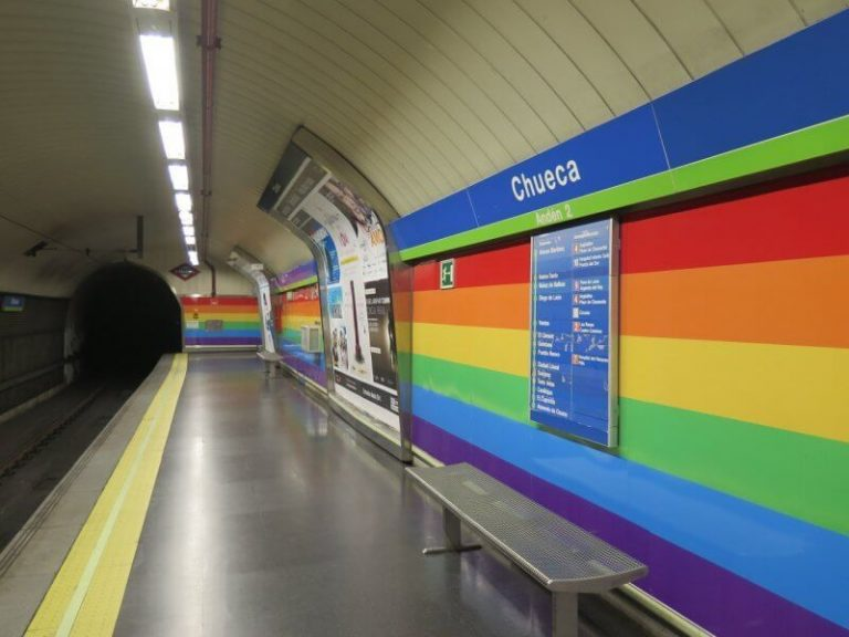 Colorful metro station
