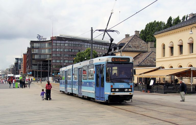 Tram number 12 in Oslo