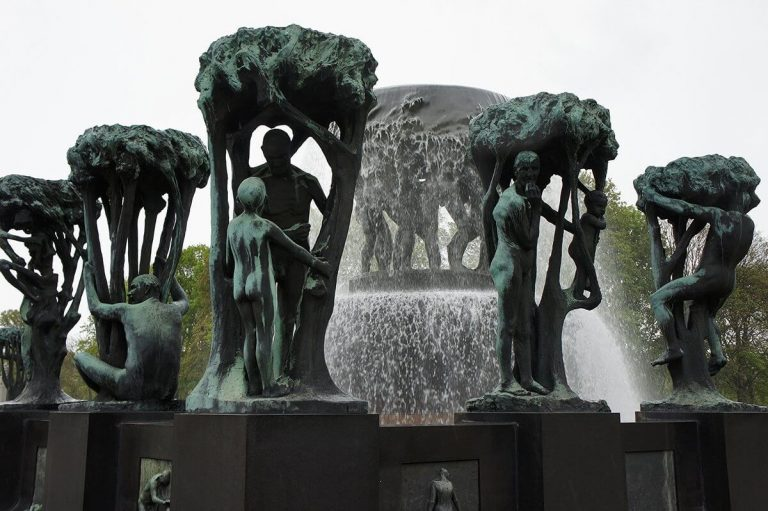 Exhibit Fountain in Vigeland Park