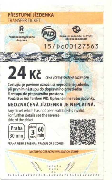 Ticket for travel