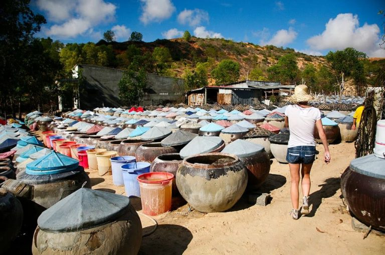 Barrels in which fish sauce is infused, Phan Thiet