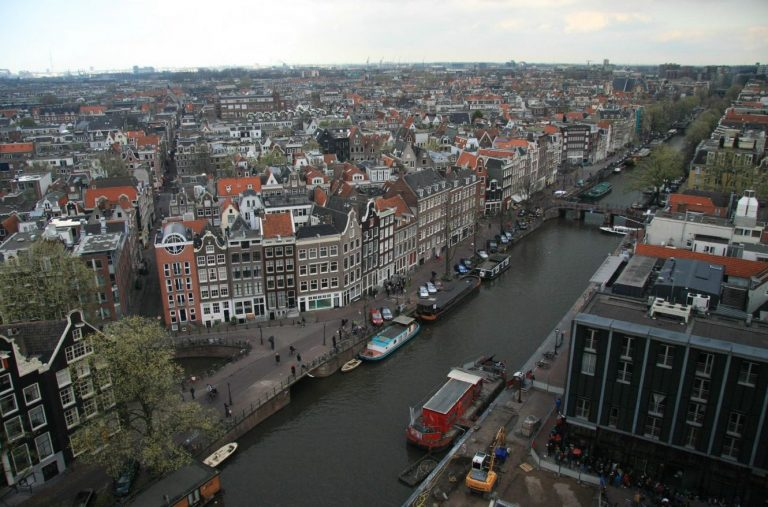 View of the city from the Westerkerk church