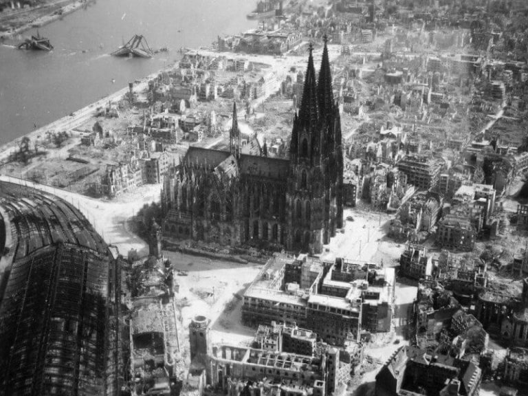 Cologne Cathedral during the war