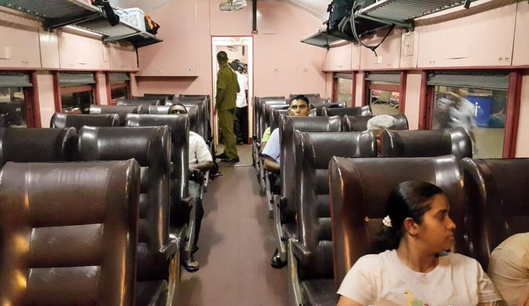 On a train from Colombo to Trincomalee