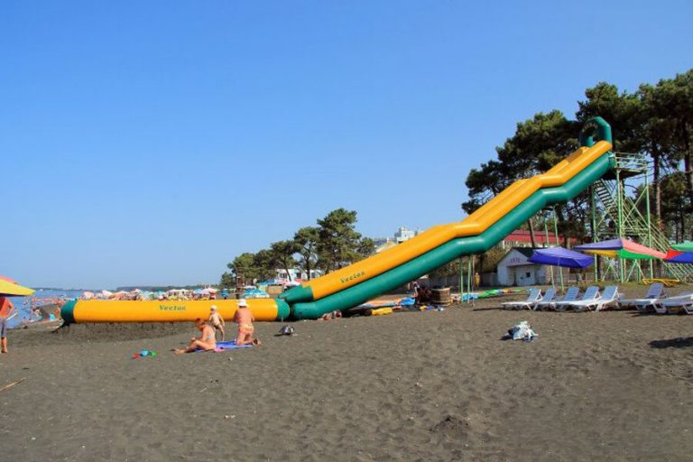 Water slide on the beach of Ureki