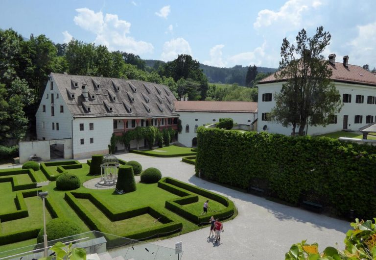 Schloss Ambras is surrounded by a park
