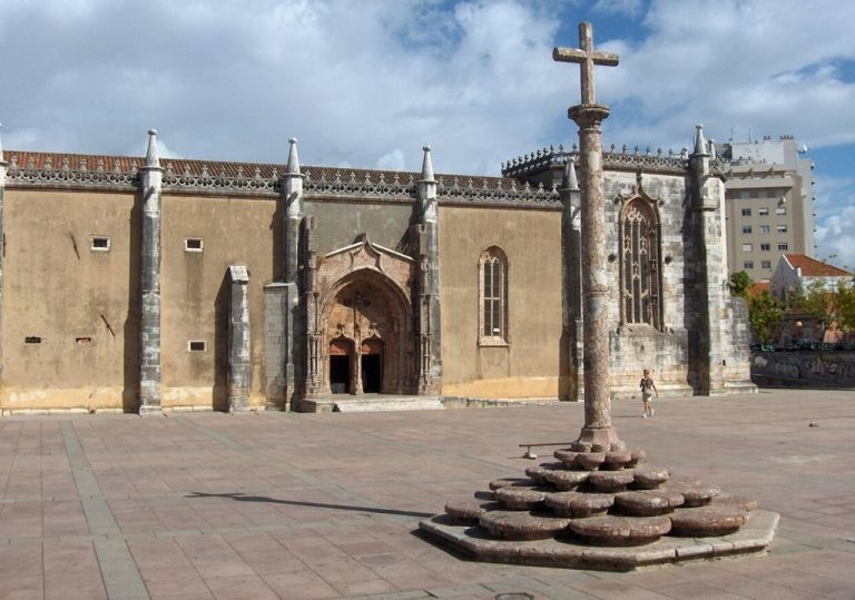 Jesus Monastery and the cross in the center of Jesus Square