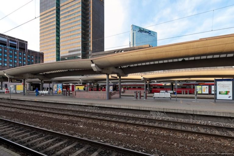 At the Oslo train station
