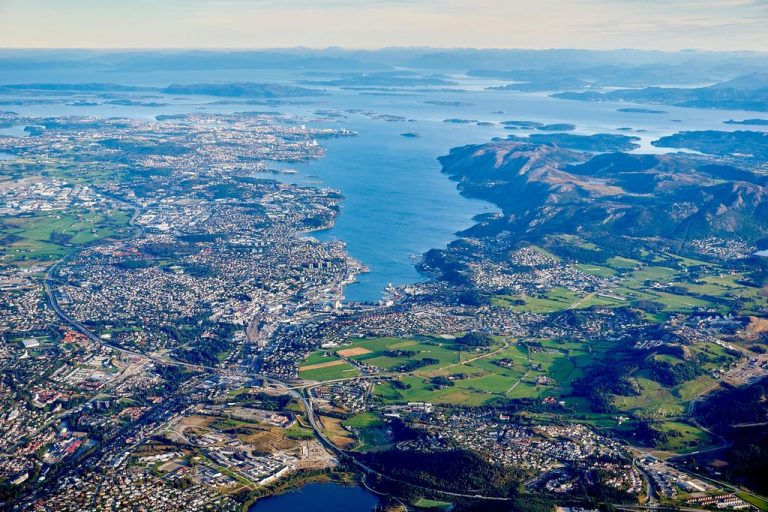 Stavanger city view from above