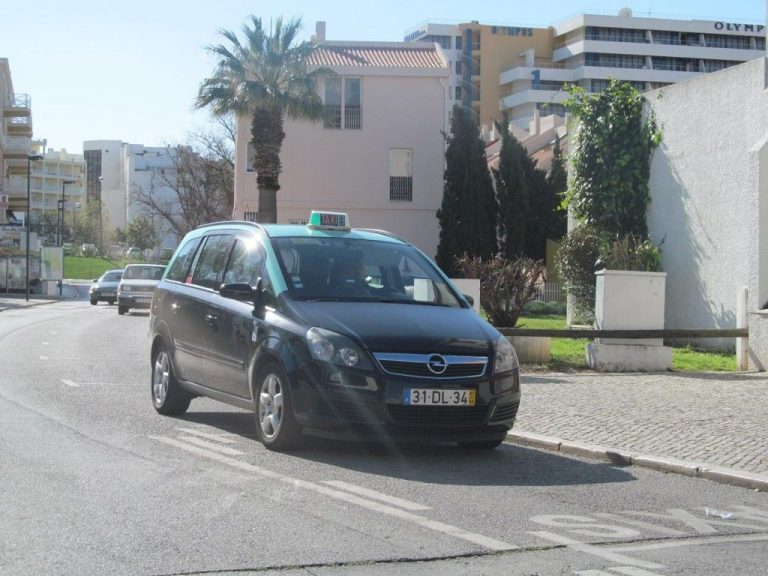 Taxi car in Portugal