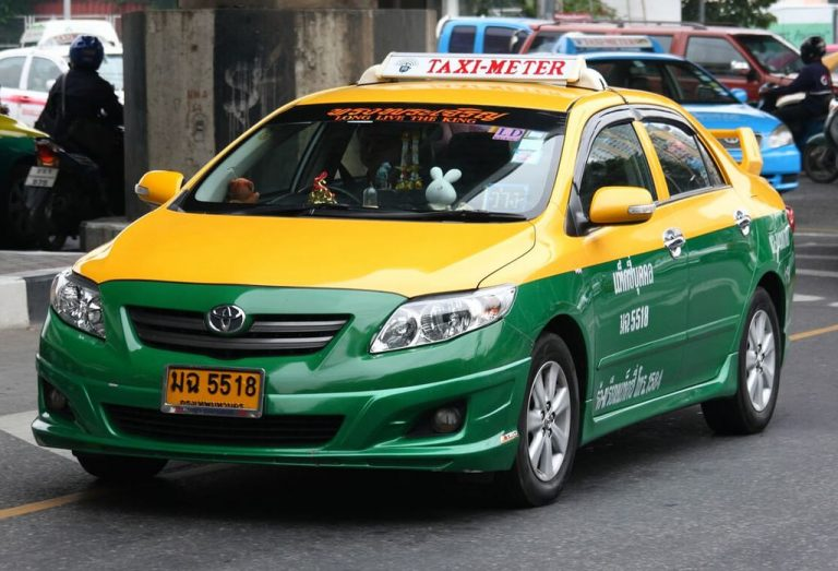 Taxis are the most comfortable way to travel.