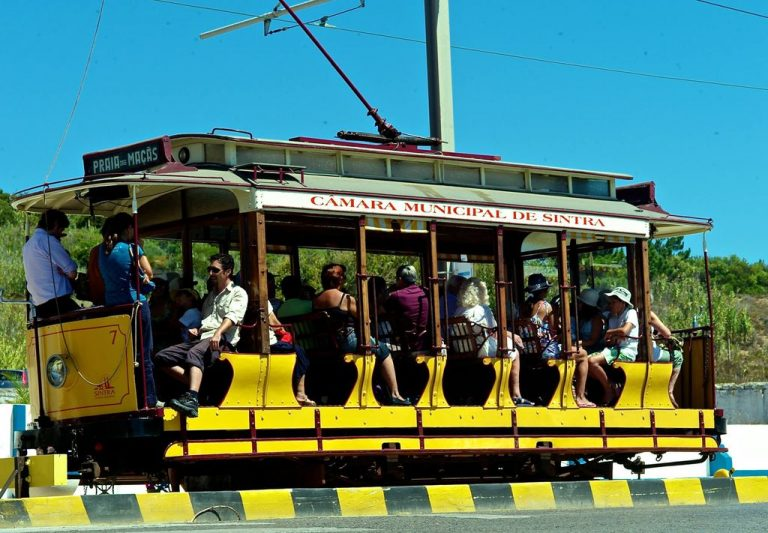 An old tram to Praia dash Masash from Sintra