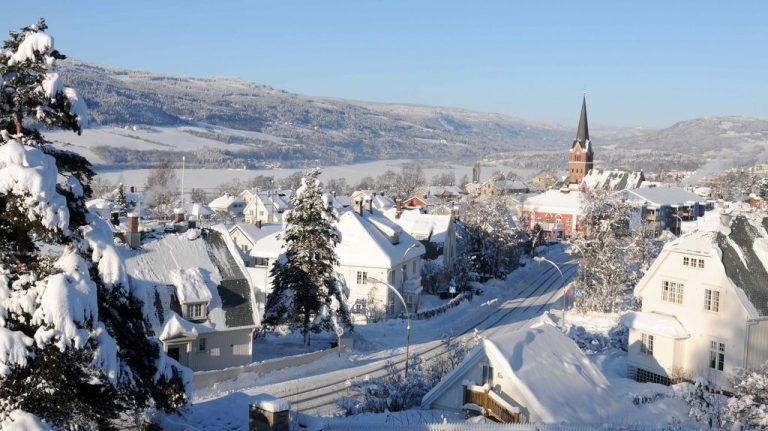 Photo: Lillehammer city in Norway