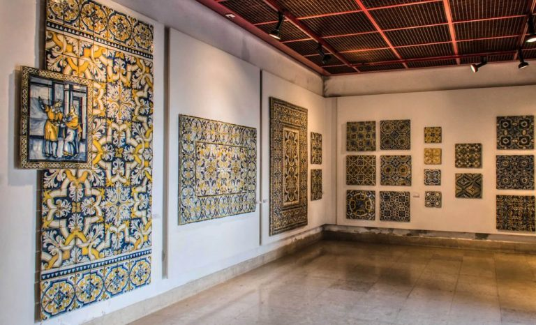 Tile exhibits at the National Azulejo Tile Museum