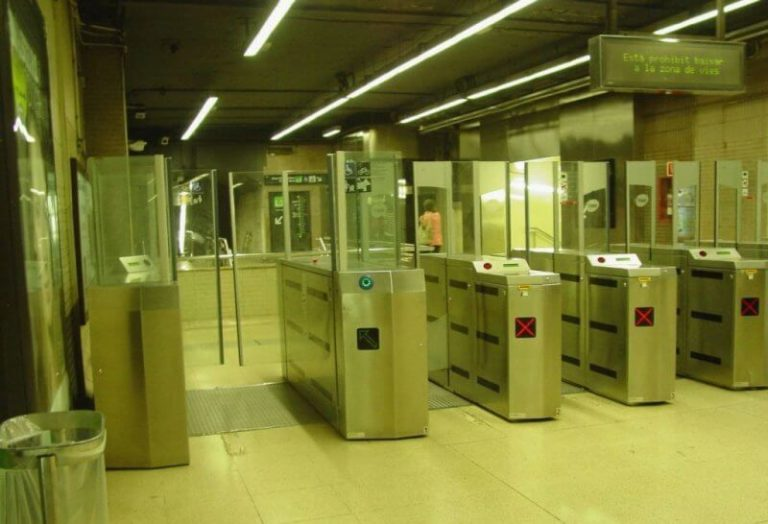 Turnstiles in the subway