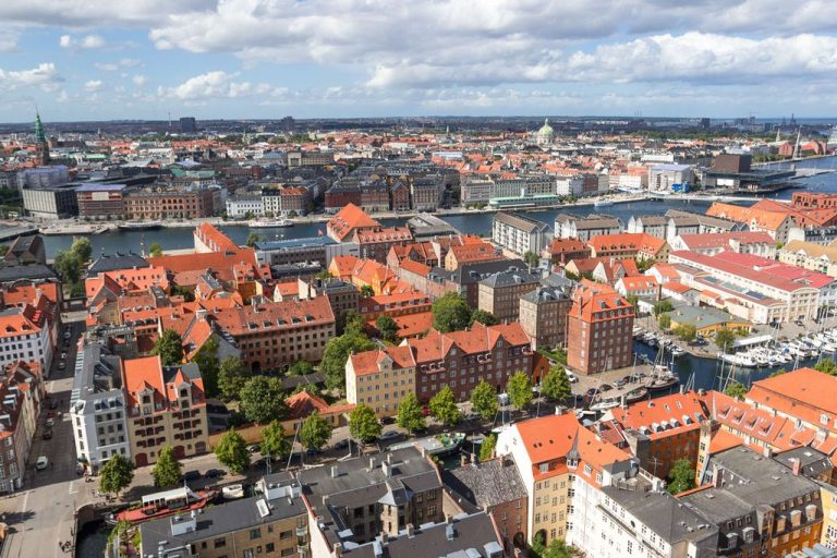 Copenhagen city view