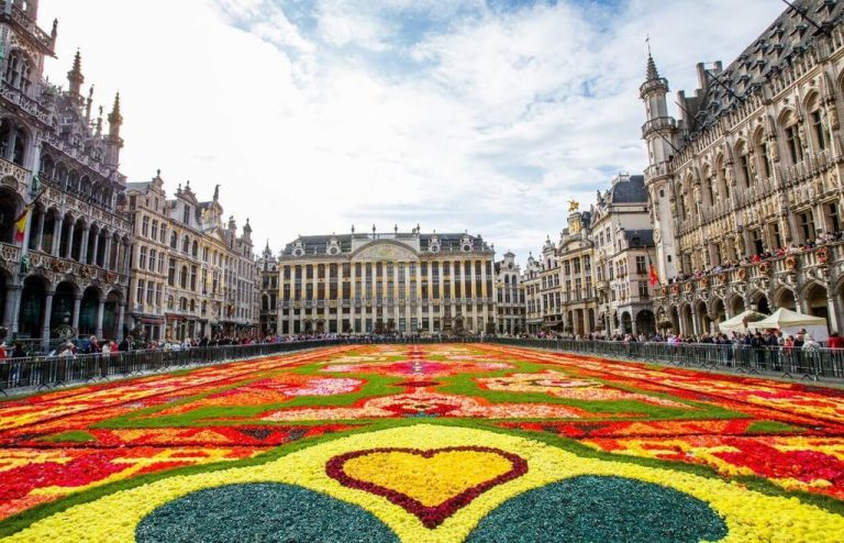 Grand Place as a flower garden