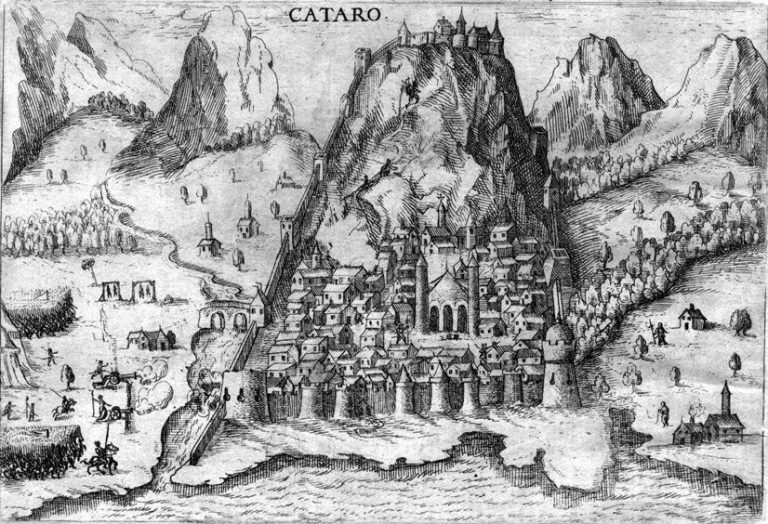 Map of Kotor from the Middle Ages