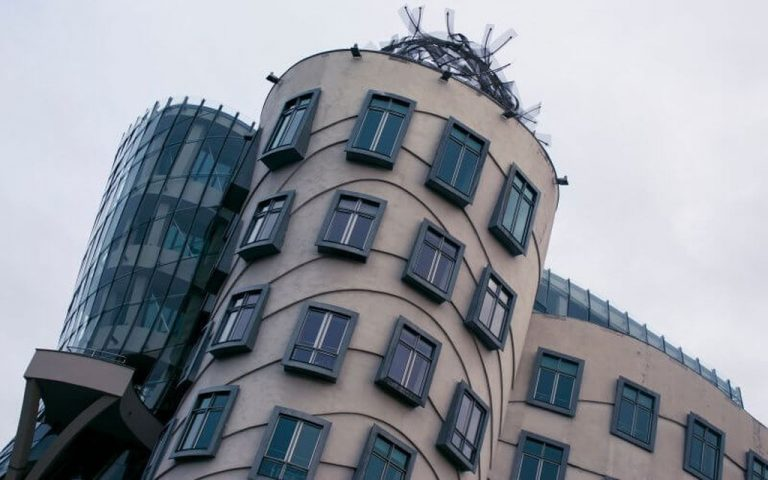 Windows of a dancing house