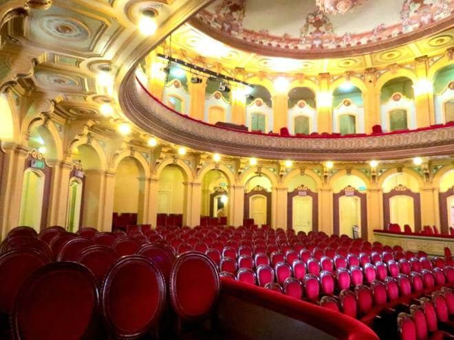 In the hall of the Opera House in Haiphong