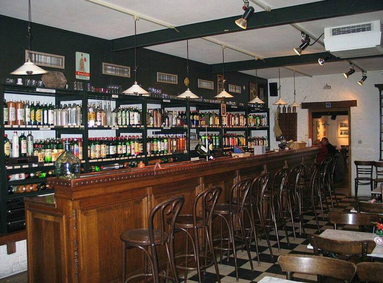 The tasting room features over 140 types of alcoholic beverage