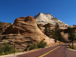 road through zion national parl